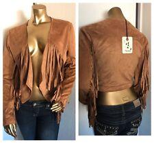 New Fashion Women's FRINGE BLAZER TOP---S----CUTE!!