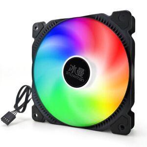 SNOWMAN PWM 4 Pin 120mm Computer Case Fan Silent 12CM Fan CPU Cooling RGB Quiet
