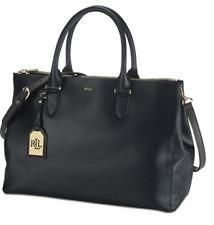Ralph Lauren Women's Black Newbury Double Zip Satchel Handbag MSRP $298