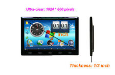 US HD 7'' 1024x600 Ultra Thin TFT LCD HDMI VGA Audio Video Car Rear View Monitor