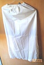 Vintage Wonder Maid Long Slip Size Med w Lace Dual Openings Style 4008 Off White