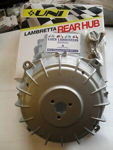 Lambretta uni silver rear hub with studs and cone sx,li,gp,tv.