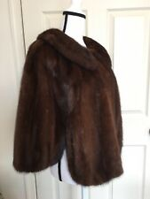 Vintage Brown Mink Fur Cape/Stole/Jacket Size S/M/L