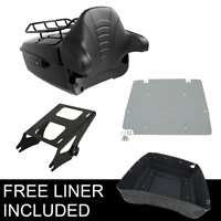 King Pack Trunk Rack Plate Fit For Harley Tour Pak Electra Road Glide 14-20 16