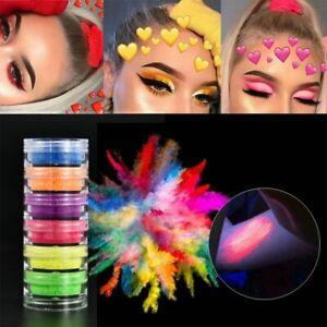 6 Color/Sets Lasting Fluorescent Matte Eyeshadow Neon Pigment Powder Halloween