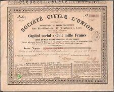 SOCIÉTÉ CIVILE L'UNION  - Propriétaire du  TEMPLE MAÇONNIQUE (LYON 69) (C)