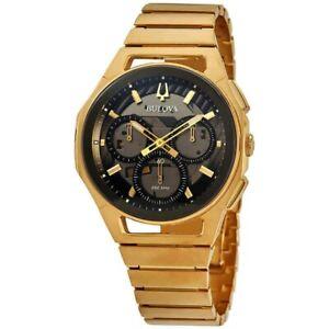 New Bulova Curv Chronograph Quartz Men's Watch 97A144