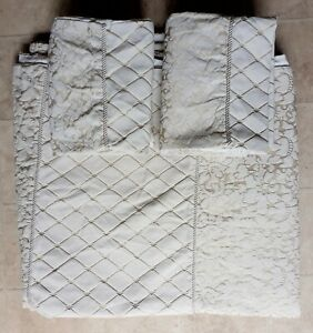 Sheridan Duvet Cover + 2 Pillowcases Damask Rope Pippng DOUBLE