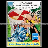 ASTERIX & Les Glaces MOTTA Uderzo 1979 - Pub / Publicité / Ad #D1