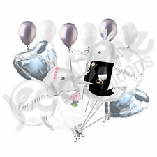 12 pc Love Birds Bride & Groom Balloon Bouquet Party Decoration Wedding Engaged