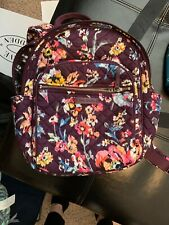 Preowned Vera Bradley Iconic Small Backpack In Indiana Rose