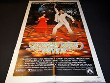 SATURDAY NIGHT FEVER  john travolta  affiche cinema 1977 disco vintage u.s rare