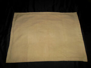 Pottery Barn Mesa Everyday Suede Standard Pillow Sham Pair Beige Hem Stitch