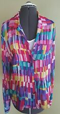 NWT Jones New York Collections Silk Blouse & Cami Multi Color Set sz 14 2 pc