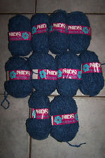 vtg 400g PHILDAR MOSCOVA 182 boucle wave loop 25% wool YARN - BLUE DK textured