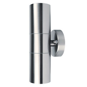 Waterproof LED UP Down Wall Light Sconce Outdoor Stainless Steel Lamp Fixture