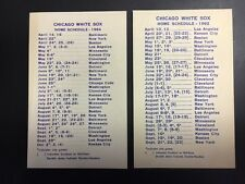 1962 Chicago White Sox Home Schedule Compliments Heco Envelope Co.