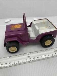 Vintage Tonka Metal Jeep Toy Purple With Power Flower Tonka Decal