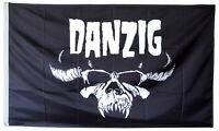 DANZIG FLAG black 3x5ft BANNER US seller