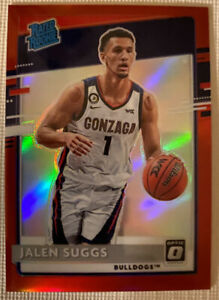 2021-22 Chronicles Jalen Suggs Donruss Optic Red Prizm Rated Rookie /149 Magic