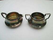 """""""RICHFIED PLATE COMPANY"""" SILVER CREAMER AND SUGAR BOWEL IN GOOD CONDITION !!!!"""