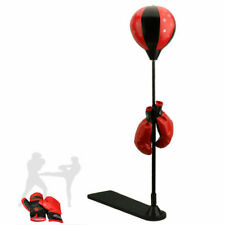 Sports Boxing Punching Bag Freestanding w/ Pair of Gloves Adjustable Height 35-5