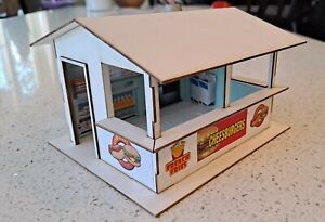 1/32 Scale Concession Stand Kit - Slot Car Scenery - Laser Cut - Scalextric SCX