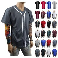 Mens Baseball Jersey T- Shirt Raglan Stripe Sports Team Hipster Casual S-3X NEW