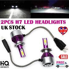2Pcs 440W H7 LED Headlights Kit High or Low Beam Bulbs 6000K Bright VS Xenon HID