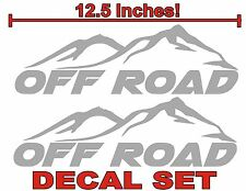 4x4 OFF ROAD Truck Bed Decals Silver (Set) for Ford F-150 Super Duty and Ranger