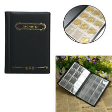 120 Pockets 10 Page Coin Storage Folder Album Penny Money Collecting Holder Book