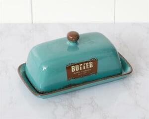 Retro Country Bellas Creamery Vintage Butter DIsh