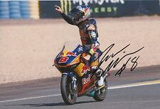 Jack Miller mano firmado 12x8 Foto Red Bull KTM Ajo Moto 3, MotoGP 2.