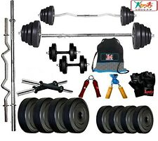 Bodyfit BF-40KG Weight Plates,5ft Rod,3ft Rod,2 D.RODS Home gym dumbell set.