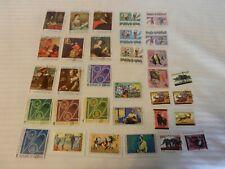 Lot of 32 Burundi Stamps, 1063, 1968, 1974 Soccer, Explorers, Paintings