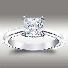 1.52 Ct Princess cut Solitaire Lab Engagement Ring in 14K White Gold Anniversary