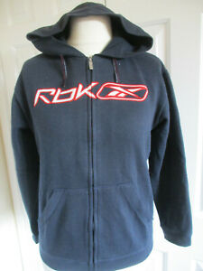 Teenagers RBK navy blue zip up hoodie sweatshirt - Age 14 years