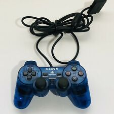 Sony Playstation 2 Dualshock 2 Analog Wired Controller SCPH-10010 - Ocean Blue