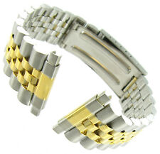 16-22mm Speidel Express Two Tone Stainless Steel Buckle Clasp Watch Band 177DR