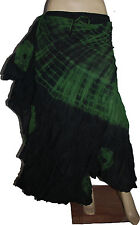 Danza del vientre 25 yarda gitana Estilo Tribal Americano Falda de algodón teñido a mano