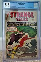 STRANGE TALES 109 CGC 5.5 OW/W PAGES 1st CIRCE ETERNALS  KIRBY 1963