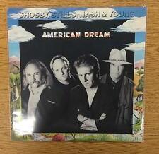 GRAHAM NASH CSNY AMERICAN DREAM 1988 SIGNED LP AUTOGRAPH  B