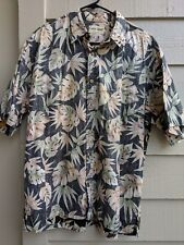 Cooke Street XL Mens Short Sleeve 100% Cotton Floral Hawaiian Shirt