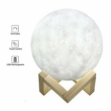 SALE 3D Moon Light Moonlight USB Rechargeable Touch control 5.9Inch 15cm Large