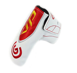 NEW Cleveland Golf Visual Performance White/Red Blade Putter Headcover
