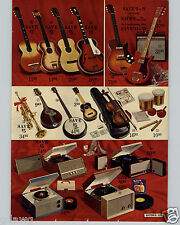 1963 PAPER AD 2 PG Double Pick Up Electric Guitar Amplifier Hohner Tremolo +
