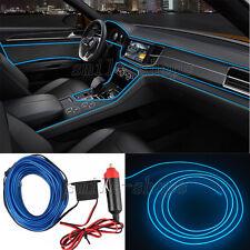 2M Blue EL Wire Car Interior Atmosphere Light Cold Light Lamp Fit for Jaguar