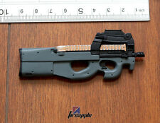 "1:6 Soldier Weapon P90 Model Plastic Rifle Gun Toy F/12"" Action Figure Accessory"