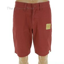 SONOMA Men's Size 36 Vintage Washed FLAT FRONT Pottery RED SHORTS Faded Look