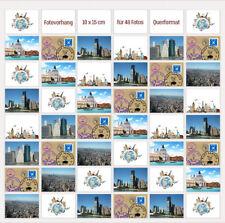 10x15 Fototaschen für 48 Fotos Fotovorhang Bildergalerie Fotogalerie Querformat